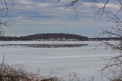 Across the Bay, Winter Scene <i>- by Cathy Contant</i>