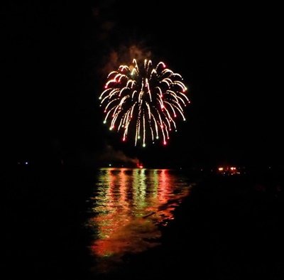July 4th Fireworks on Great Sodus Bay <i>- by Cathy Contant</i>