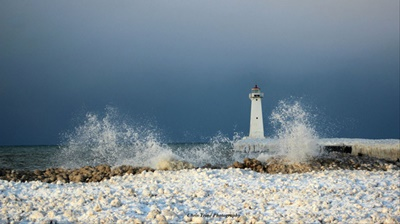 Winter Pier Light <i>- by Chris Trine</i>